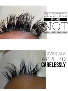 Lash extension differences proverbs 31 hair eyelash studio they can be made with a variety of materials and are not designed to be worn when showering sleeping or swimming they are applied with lash glue designed pmusecretfo Image collections